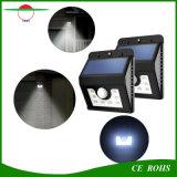 Lámpara solar de movimiento del sensor de la pared de la luz 8LED del jardín solar de la seguridad al aire libre para la yarda del patio del camino