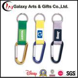고품질 6cm D 모양 PVC 패치를 위한 상승 단추 알루미늄 Carabiner 훅 Keychain