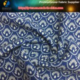 Impression en tissu extensible en polyester Fleur tropicale pour chemise / pantalons (YH2131)