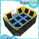 Trampoline детей коммерчески напольный модульный для парка атракционов использовал