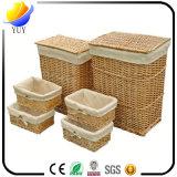 Mano de alta calidad que hace la cesta de mimbre y la caja de almacenaje con la fábrica de China