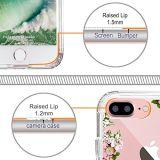 Dünner Löschen-Beständiger TPU Stoßdeckel PC der Blumen-harter Kasten für iPhone 7 5.5 Zoll
