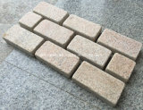 Flamed Tumbled Yellow Granito G682 Cobblestone y Cubo