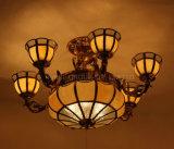 Luz antiga do pendente do cobre & do vidro para a HOME ou o hotel