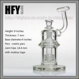 Hfy Glas7mm starke 8 Zoll Mobius Glassworks-Ölplattform, diewasser-Rohr mit Matrix Perc irgendein Flaschen-Wasser-Rohr-Trinkwasserbrunnen rauchen