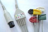 Medische Monitor 6pin IEC/Aha Snap&Clip 3/5 Kabel ECG