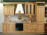 Gabinete de cozinha Home da antiguidade do gabinete de cozinha da madeira contínua de Poplar branco de Europa da mobília