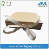 Конструкция коробки нижнего белья картона роскошной золотистой упаковки подарка складывая упаковывая