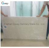 Base de banho em pedra artificial com tampa longa de aço inoxidável / chuveiro para banheiro