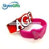 O Wristband do silicone com forma diferente gosta da meia forma redonda