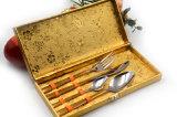 Комплект Cutlery Rose нержавеющей стали высокого качества 16PCS золотистый покрынный