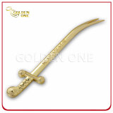 Custom Souvenir Sword Shape Gold Plating Letter Opener