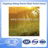 Barra amarilla clara de la PU de la barra del poliuretano de Rod del poliuretano