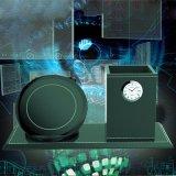 Chargeur rapide sans fil de conteneur de bureau de papeterie de support de crayon de vase à crayon lecteur d'horloge rangée de cadeau
