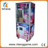 Цветастая машина игры торгового автомата крана с лапой игрушки для парка атракционов
