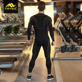 Sport der Männer trägt Long-Sleeved Komprimierung-Anzug