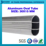 Profil rond ovale d'aluminium de tube de garde-robe de l'aluminium 6063