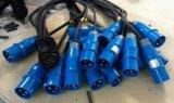Силовой кабель 16A женского проламывания Socapex мыжской
