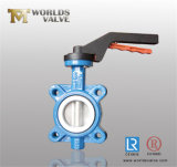 Aluminiumhebel-Oblate-Drosselventil mit Bescheinigungen CER-ISO-Wras (WD7A1X-10/16)