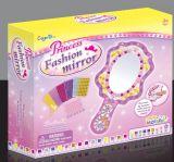 Rectángulo y espejo Juguete-Pegajosos de la Mosaico-Princesa joyería de la goma del color de los cabritos DIY