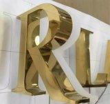 De Spiegel die van het roestvrij staal Gouden Brief plateren