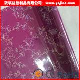 PVC lustré élevé inférieur de couleur solide d'inflammabilité décoratif