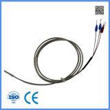 3 fil Wzp PT100 avec le détecteur de température protégé par métal du fil Ss304