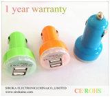 Dubbele Micro USB in Auto USB van de Verkoop van de Lader van de Auto de Hete Dubbele 5V 2.1A +1A