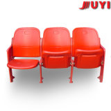 싼 옥외 접히는 플라스틱 의자가 경기장 의자 강철 다리에 의하여