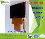 """2.2 """" étalage de TFT LCD de 240*320 RVB 16bit, IC : Ili9341V, FPC 40pin pour la position, sonnette, médicale, véhicules"""