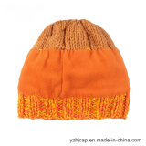 ジャカード帽子の帽子のニットの帽子POMのPOMによって編まれる帽子の帽子