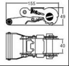 Schaltklinken-Faltenbildung für die Auspeitschung des Riemen-hellen Aluminiumgriffs