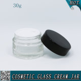 30ml Transparent Cosmetic Cream Container Glass Jar