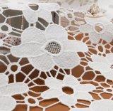 Del bordado caliente de 2017 tela francesa del cordón de Tulle 3D Florals para la alineada del cordón de la manera