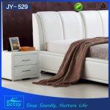 중국에서 현대 가죽 나무로 되는 침대 디자인