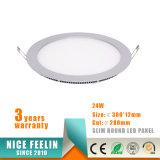 細い円形LEDの天井灯のパネル3With6With9W12With15With18With24W