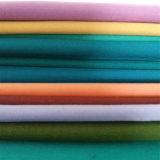 Telas tejidas llano de la guarnición que embolsan con colores teñidos sólidos