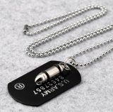 Collier pendant de bijou d'acier inoxydable de la mode 316L d'armée de remboursements in fine