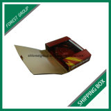 Caixa de transporte ondulada do encarregado do envio da correspondência da forma do livro com impressão de cor