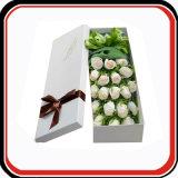 Caixa de empacotamento do presente rígido feito sob encomenda da flor do papel do cartão