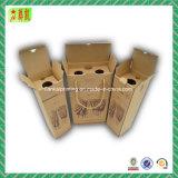 A caixa de papel ondulada luxuosa com Custome imprimiu para o vinho