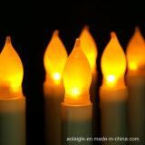 Sfarfallamento giallo di plastica dell'ABS con la candela del cono della batteria LED di aa