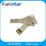 Mini clé de mémoire USB principale imperméable à l'eau en métal de lecteur flash USB de forme