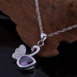 Ожерелья 3 чокеровщика серьги кольца лебедя Zircon способа ювелирные изделия PCS медного кристаллический маленького установленные