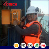 Public Téléphone étanche à l'eau Knsp-01 Métro Téléphone d'urgence Système d'interphone industriel