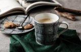 [12وز] [360مل] [كفّ موغ] خزفيّة, فنجان من نقطة تصميم, فنجان لأنّ قهوة وشاش