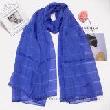 Qualitäts-Ebene gefärbter Eis-Silk Chiffon- Schal (HWBIS01)