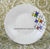 Piatto di pranzo bianco di ceramica delle azione all'ingrosso della porcellana