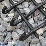 前ひだを付けられた技術の新型高炭素の鋼鉄ロックのひだスクリーンの金網