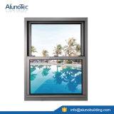Ventana de ventana de aluminio Ventana de doble ventana Ventana de vidrio deslizante vertical
